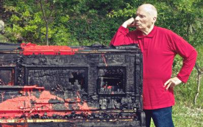 """Biennale del Belvedere: Sezione """"Omaggio al Maestro del Fuoco Bernard Aubertin"""""""